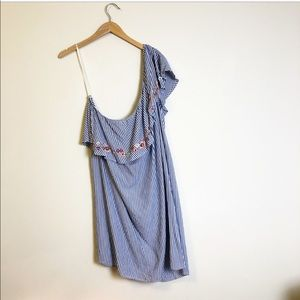 Rue 21 Plus Size One Shoulder Embroidery Dress
